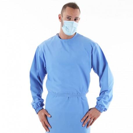 Surblouse Antisalissure Bleue Lavage Industriel à 75°