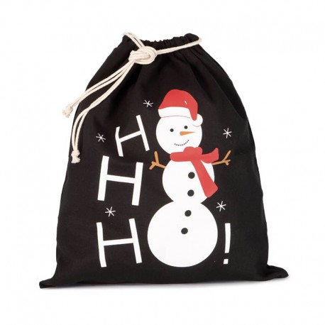 sac de noël toptex imprimé bonhomme de neige