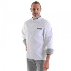 Veste de Cuisine Blanche Manches Longues, coupe mixte, convient à tous les métiers