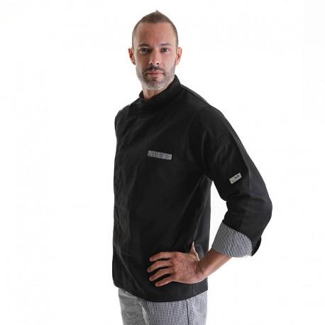 veste de cuisine square noir Manelli