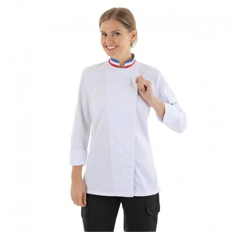 veste de cuisine femme col drapeau français Manelli