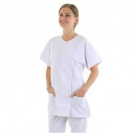 blouse médicale asymétrique femme