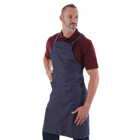 tablier cuisinier en jean moderne
