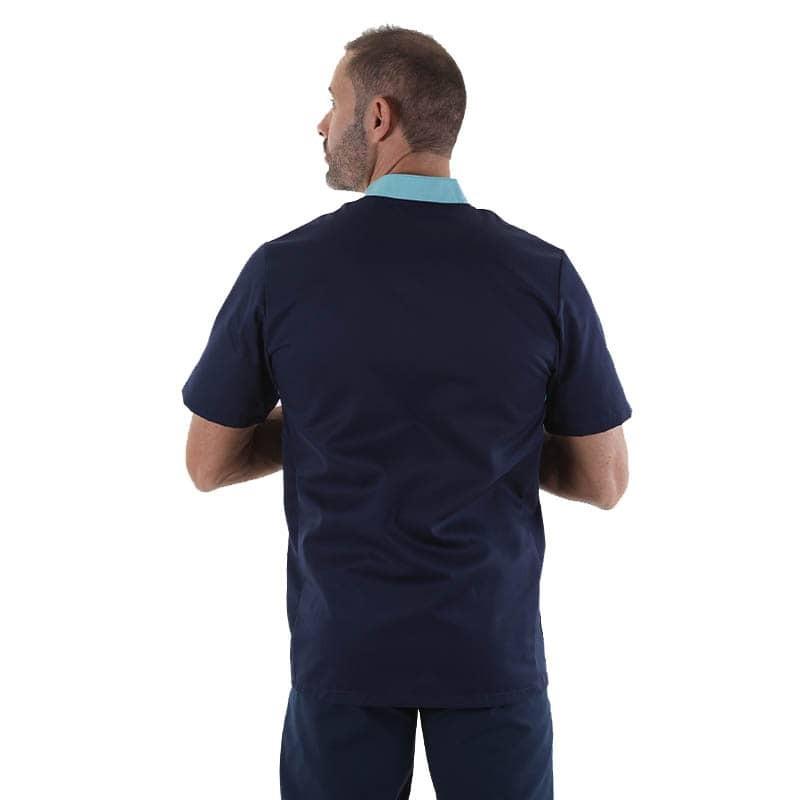 blouse médicale marine manche courte idéal pour medecin infirmiers et véterinaires