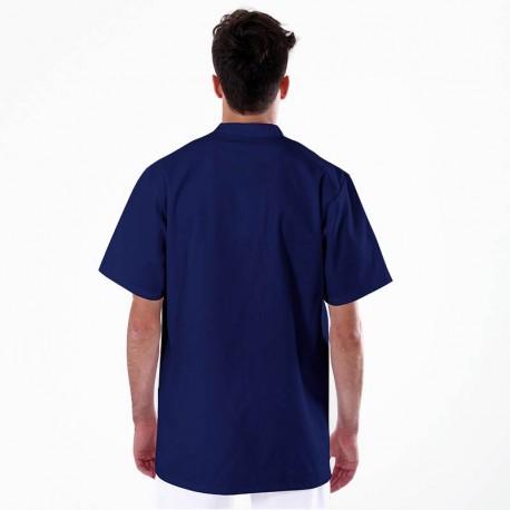 blouse médicale homme bleu marine manches courtes
