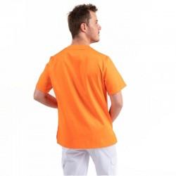 Tunique Medicale Col V Orange - EGOCHEF
