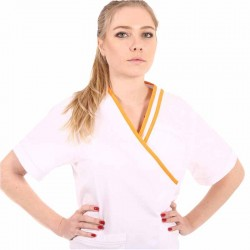 blouse blanche et orange Lille Lafont