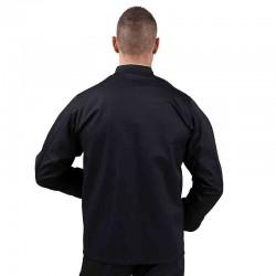 Veste de cuisine noire liseré argent - MANELLI - Manches longues