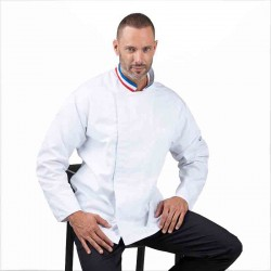 veste de cuisine col tricolore chef cuisinier Manelli