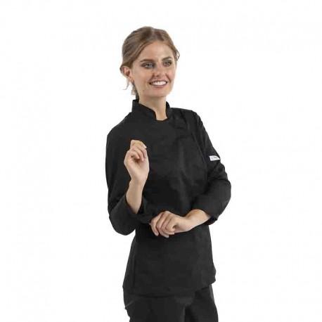 Veste de cuisine lady femme manches longues col officier Manelli