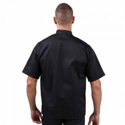 Veste de cuisine Eco-responsable noire manches courtes Homme