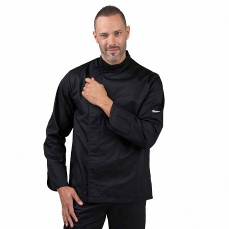 Veste de cuisine Eco-responsable noire manches longues Homme
