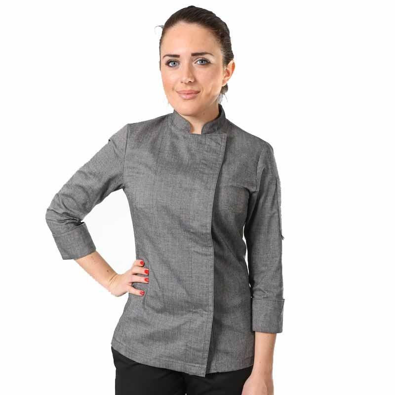 Veste de cuisine femme grises