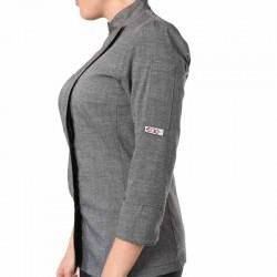 veste de cuisine grise femme