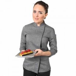 veste de boulanger femme grise