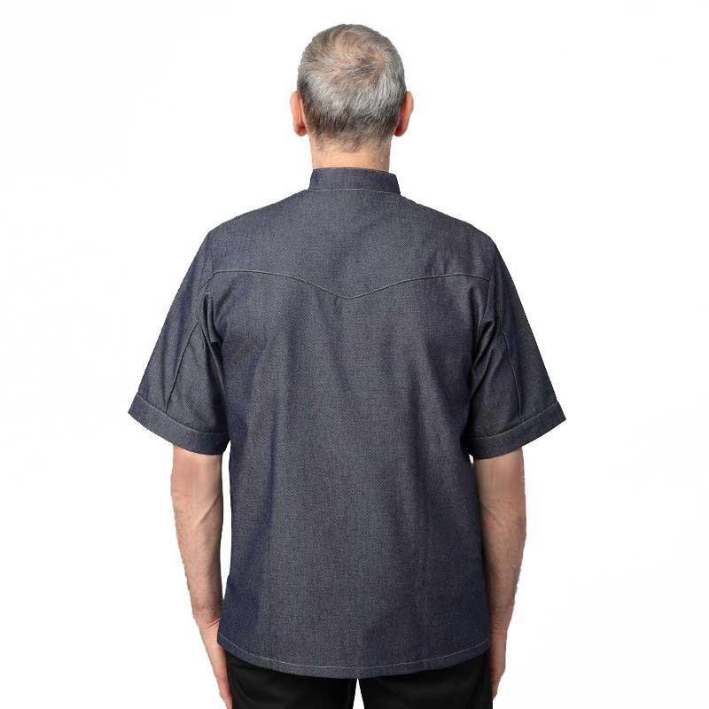 Veste Jean homme Manches courtes - MANELLI 1 découpe sur le dos