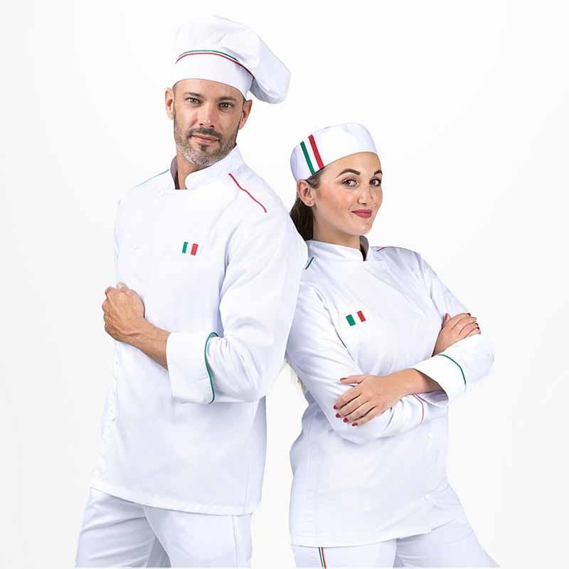 Veste De Cuisine Napoli Femme - MANELLI - version homme ou femme disponible