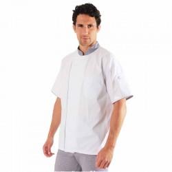 Veste de cuisine pied de poule - Ummy Robur, veste pour cuisinier élégante