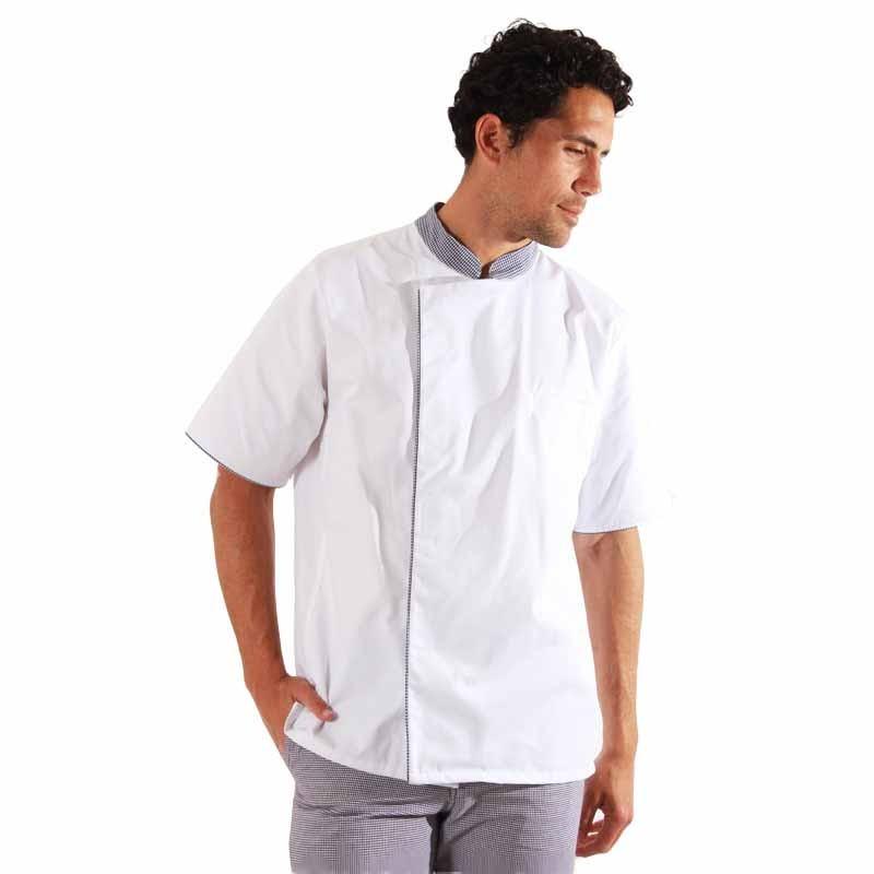 Veste de cuisine pied de poule - Ummy Robur, tissu léger et agréable