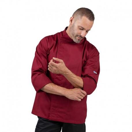 Veste de Cuisine Bordeaux - MANELLI - manches retroussables