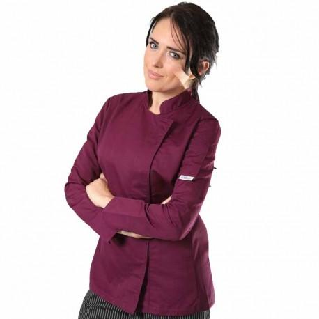 veste de cuisine prune femme Manelli