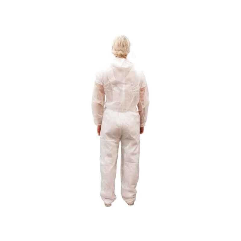 combinaison blanche à capuche de dos