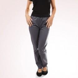 pantalon de cuisine femme gris slim