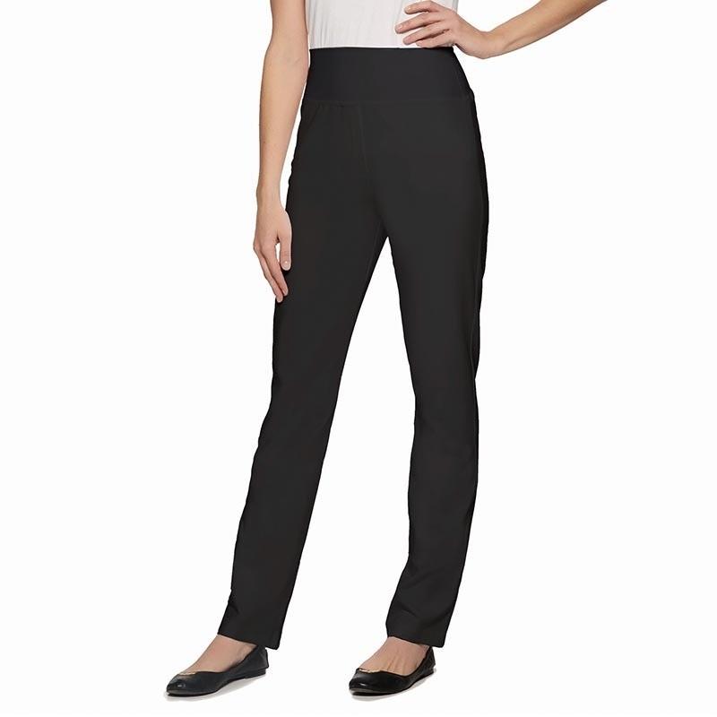 pantalon noir en jersey femme