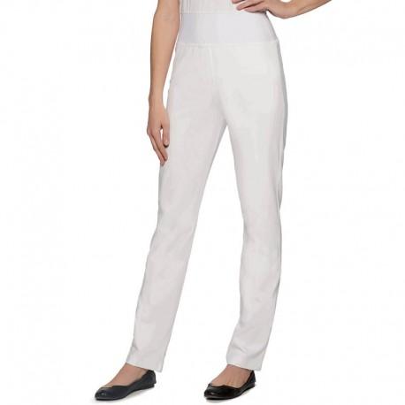 pantalon blanc en jersey femme