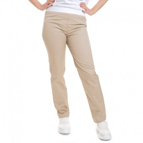 pantalon de cuisine beige femme manelli
