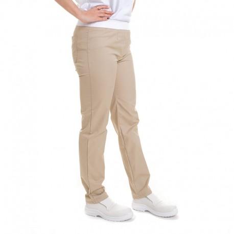 pantalon beige taille elastique manelli