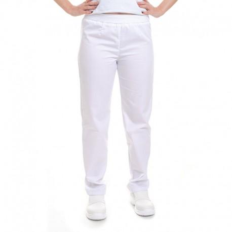 Pantalon de Cuisine Femme blanc Manelli® tissu européen