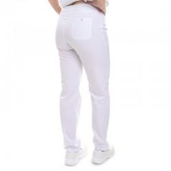 Pantalon de Cuisine Femme blanc Manelli® ceinture élastique