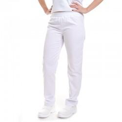 face Pantalon de Cuisine Femme blanc Slim