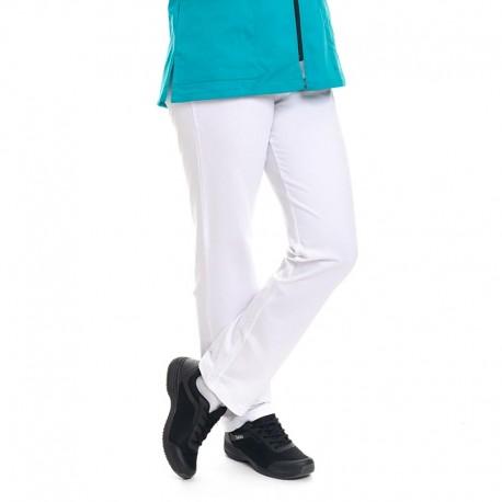 pantalon confort blanc manelli