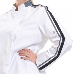 veste molinel détail rayures femme