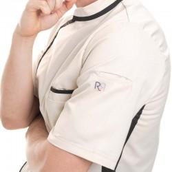 détail logo robur veste beige