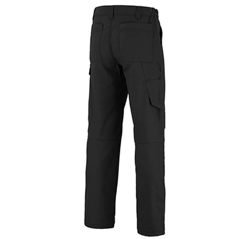 Pantalon de travail noir dos
