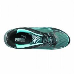 Baskets de sécurité femme Puma Fuse motion bleu S1 noire et bleu