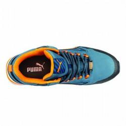 basket norme s3 bleu et orange sportswear et confort