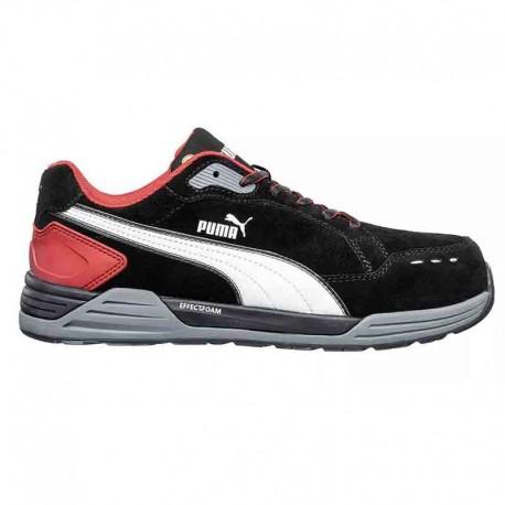 basket de sécurité puma noir et rouge