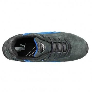 Basket de sécurité Puma Milano Low - S1P couleurs vives : bleu et noir