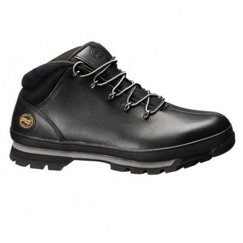 Chaussures de sécurité Timberland Pro Spiltrock, cuir noir look moderne.