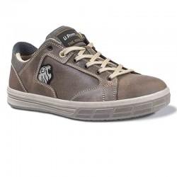 Chaussures de Sécurité Basket Beige S3 SRC, coque en aluminium