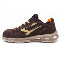 Chaussures de sécurité Marron avec pointe de beige.