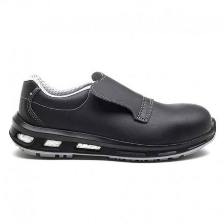 Chaussures de sécurité NOIR S2 SRC. Noire et légère. Parfait pour la cuisine. Semelle protectrice.