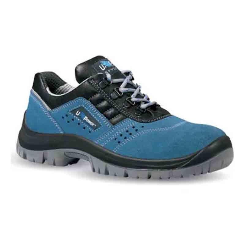 Chaussures de sécurité bleues Boss S1P SRC. Légéreté et confort absolu.