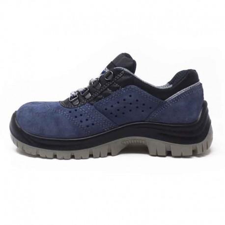Chaussures de sécurité bleues légéreté et confort absolu.