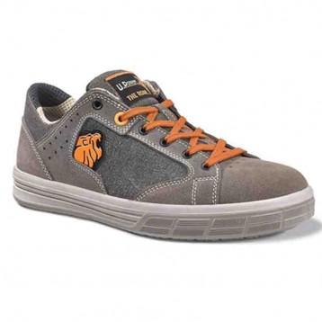 Chaussures de Sécurité Basket, homme, design, bicolore, orange et marron