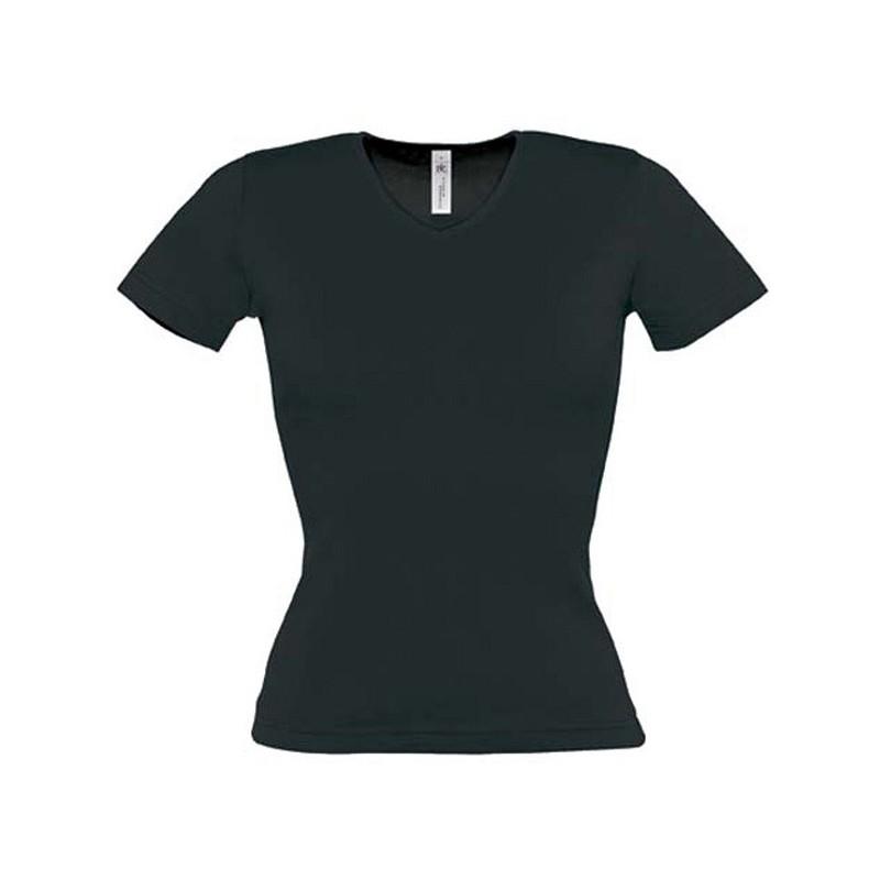 df3cc98080e0 Tee shirt de travail noir femme col V - medical - esthetique - cuisine
